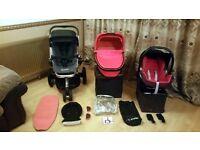 Quinny Buzz 3 Pushchair Pram Stroller Travel System & Maxi Cosi Car Seat + Accessories