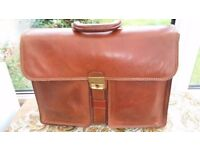 Briefcase - Large Brown Italian Leather Briefcase