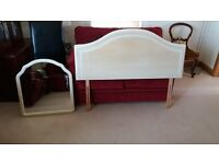 """Matching double bed headboard and mirror by """"Rooms"""""""