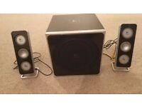 Logitech Z-4 Speaker System 80w Black (2.1) used, good condition