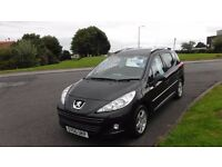 PEUGEOT 207 1.6 HDI SW MILLESIM,2010(60)PLATE,DEMO+1Lady OWNER,ALLOYS,AIR CON,£20 Road Tax,F.S.H