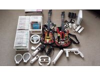Nintendo Wii, 38 Games, Rechargeable battery packs, 2 Guitars, 2 Controllers, plus accessories