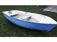 "9ft 5"" grp dinghy tender fishing boat."