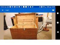 Antique vintage storage trunk, box, chest.