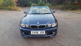 2006 BMW 3 series 2.0 blue 2dr convertible auto petrol MOT April2019 full service, leather seats