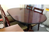 Extending Mahogany Table & 4 Chairs. .......Local Delivery. . . . £69 . . .