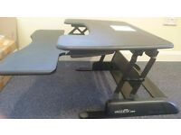 Varidesk sit/stand desk unit bought for £300+ FOR SALE, COLLECTION, CASH ONLY £150.