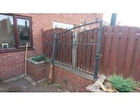 Two wrought iron gates, need a paint but in decent condition.