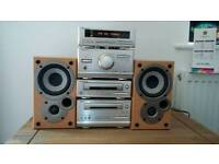 Technics hifi system with denon speakers