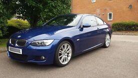 2008 BMW 335i M SPORT AUTO COUPE TWIN TURBO **LE MANS BLUE** LOW MILES PX
