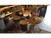 Mapex drum kit with Zildjan cymbals in great condition