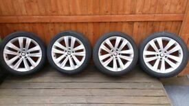 Seat Alhambra 18inch Alloy Wheels with run flat tyres 225/45