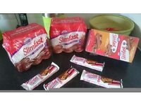 Slimfast chunky chocolate shakes, snack bars and meal replacement bars