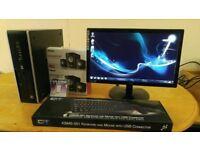 HP 8000 Elite Business PC Desktop Computer & AOC Slimline 19
