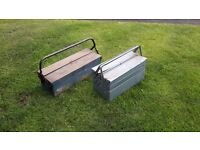 TWO CANTILEVER TOOL BOXES BOTH LOCKABLE PRICE IS FOR BOTH.