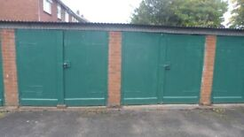 Cheap storage lockup garage to store vehicle or household 24/7 access in Handsacre, Staffordshire.