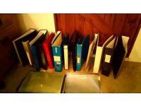Various files / folders / ring binders