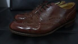 Mens Loake Chester Brogue Chocolate Brown Derby Country Shoes UK 9
