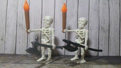 PLAYMOBIL HALLOWEEN ESQUELETOS ARMADA MUERTE HACHAS TERROR HORROR MUERTOS