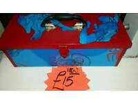 Spiderman red and blue toolbox. New.