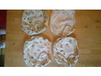 5 Motherease patterned nappy wraps