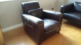 Leather armchair - free to collector