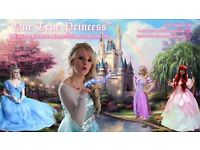 ONE TRUE PRINCESS PARTY ENTERTAINER APPEARANCE AS ELSA ANNA CINDERELLA RAPUNZEL ARIEL MERMAID OLAF