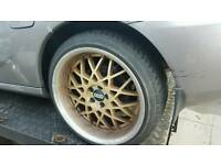 Set of 4 bbs alloys wheels with good tyres