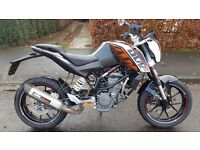 KTM DUKE 125 SUPERB CONDITION LOW MILES NO DEPOSIT FINANCE /CARD PAYMENT AND DELIVERY ARRANGED
