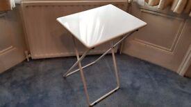Folding Small White Metal Habital Table/Desk