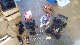 Hpi 3.5 trophy two nitro buggy fully running with loads of bits and bobs with it 160 ono