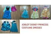 JOBLOT BUNDLE 5 x DISNEY PRINCESS COSTUME DRESSES FROZEN BELLE SNOW WHITE BRAVE LEICESTER