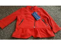 Baby Girls Red Ralph Lauren Jacket Size 12mths New with tags