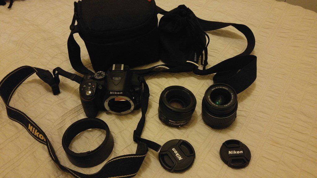 Nikon D5300 SLR camera, lenses, bags and boxes