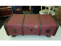 Vintage Suitcase/Steamer Trunk Coffee Table
