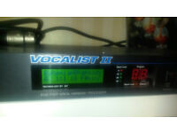 Digitech Vocalist 2 five part harmony + footswitch