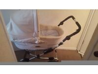 Norton's white leather pram