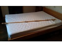 6ft wooden curtain pole