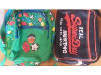 Superdry Black Satchel AND Smiggle backpack Bundle