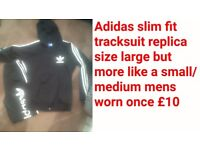 Adidas slim fit style tracksuit size s/m