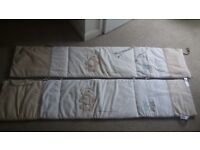 2 lovely cot bumpers unisex