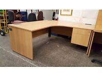 Large two drawer office desks
