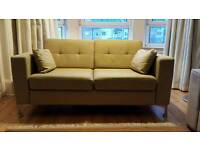 Retro Style Olive colour 2 Seater Settee