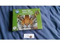 Tiger jigsaw puzzle game fun
