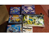 Meccano set, HotWires, Lego Builder, Magnext iCoaster, Top Gear board game, Simpson scrabble