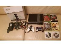 Xbox 360 (Joint Task Force) Bundle -Console, 2 controllers ,6 games and all leads in box £95