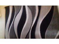 Rug black grey cream 120 x 160 cm new never used
