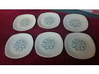 Vintage Midwinter (Cassandra Pattern) Dinner Plates x 6 9&3/4 ins