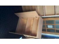 1 x Bookcase & 2 x Cupboard Beech effect VGC