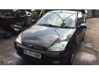 2003 Ford Focus Ebony 3dr 1.6 Petrol Black BREAKING FOR SPARES